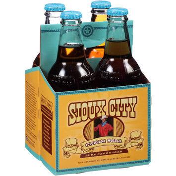 Sioux City Cream Soda, 4 count, 12 fl oz, (Pack of 6)