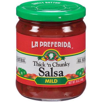 La Preferida Thick 'n Chunky Mild Salsa, 16 oz, (Pack of 12)
