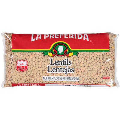 La Preferida Lentils, 16 oz, (Pack of 24)