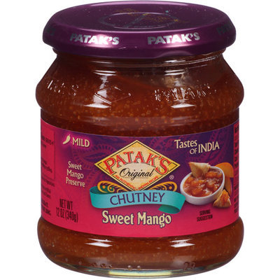 Patak's Original Sweet Mango Chutney Mild, 12 oz, (Pack of 6)