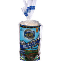 Lundberg Lightly Salted Organic Brown Rice Cakes, 8.5 oz, (Pack of 12)