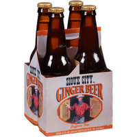 Sioux City Outrageous Ginger Beer Soda, 4 count, 12 fl oz, (Pack of 6)