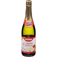 Kedem Sparkling Cider, 100% Juice, 25.4 fl oz, (Pack of 6)