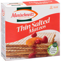 Manischewitz Thin Salted Matzos, 10 oz, (Pack of 12)