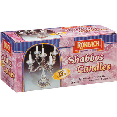 Rokeach Shabbos Candles, 72 count, (Pack of, 8)