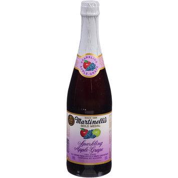 S Martinelli Martinelli's Gold Medal Sparkling Apple-Grape Juice, 25.4 fl oz, (Pack of 12)