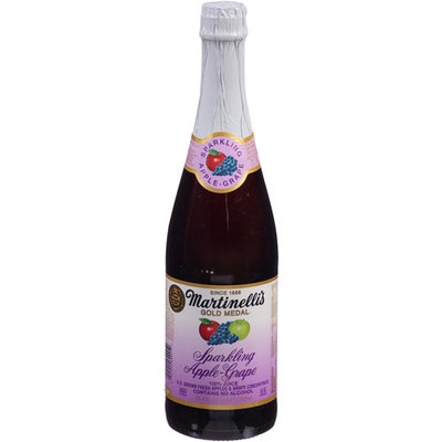 S Martinelli Martinelli's Gold Medal Sparkling Apple-Grape Juice, 25.4 fl oz, (Pack of 12)