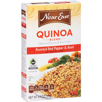 Near East Roasted Red Pepper & Basil Quinoa Blend, 4.9 oz, (Pack of 12)