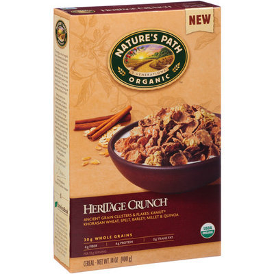 Nature's Path Organic Heritage Crunch Cereal, 14 oz, (Pack of 12)