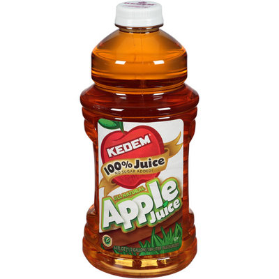 Kedem 100% Apple Juice, 64 fl oz, (Pack of 8)