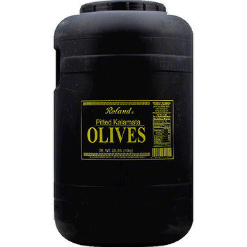 Roland Pitted Kalamata Olives, 22 lbs
