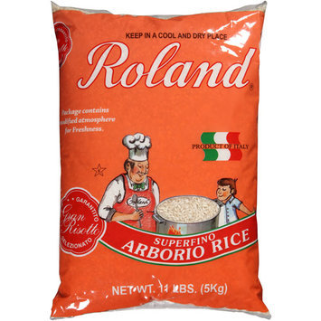 Roland Superfino Arborio Rice, 11 lbs, (Pack of 4)