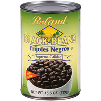 Roland Black Beans Frijoles Negros, 15.5 oz, (Pack of 24)