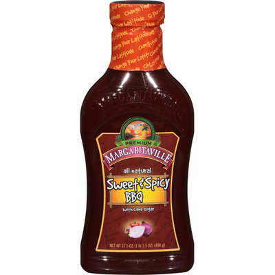 Margaritaville Sweet & Spicy BBQ Sauce, 17.5 oz, (Pack of 6)