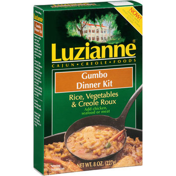 Luzianne Rice, Vegetables & Creole Roux Gumbo Dinner Kit, 8 oz, (Pack of 6)