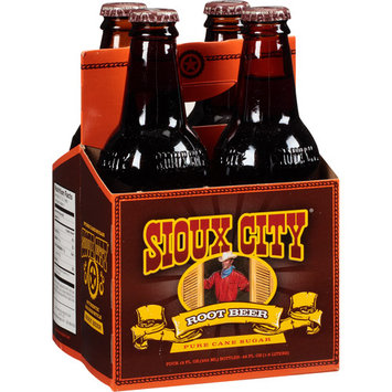 Sioux City Root Beer Soda, 4 count, 12 fl oz (Pack of, 6)