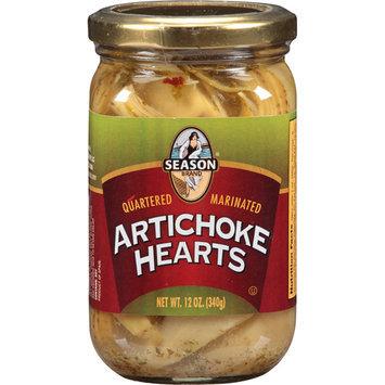 Seasons Season Brand Quartered Marinated Artichoke Hearts, 12 oz, (Pack of 12)