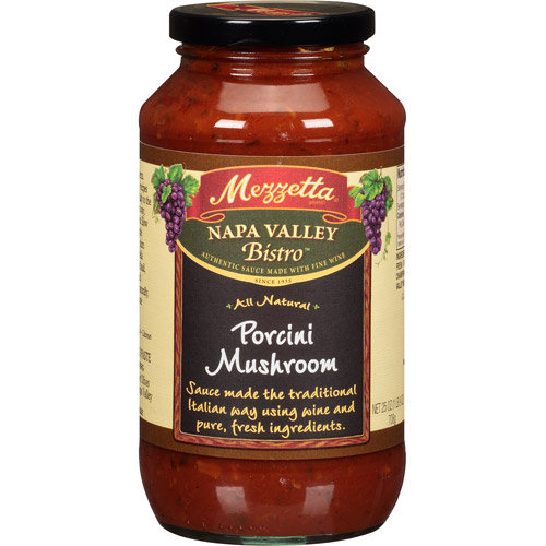 Mezzetta Napa Valley Bistro Porcini Mushroom Pasta Sauce, 25 oz (Pack of, 6)