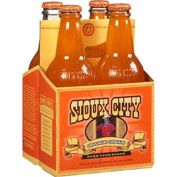 Sioux City Orange Cream Soda, 12 fl oz, 4 pack, (Pack of 6)