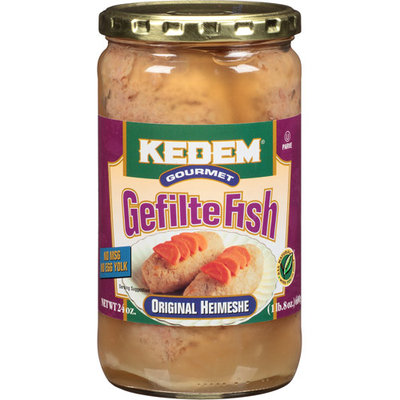 Kedem Gourmet Original Heimeshe Gefilte Fish, 24 oz, (Pack of 6)