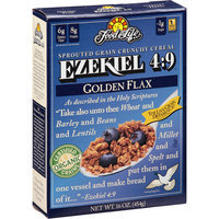 Food For Life zekiel 4:9 Golden Flax Sprouted Grain Crunchy Cereal, 16 oz, (Pack of 6)