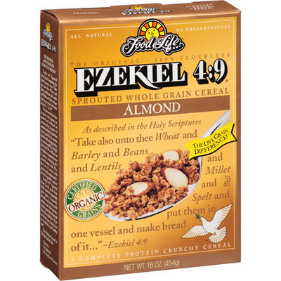 Food For Life Ezekiel 4:9 Almond Sprouted Whole Grain Cereal, 16 oz, (Pack of 6)