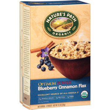 Nature's Path Blueberry Cinnamon Flax Oatmeal, 8 count, 11.2 oz, (Pack of 6)