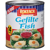 Rokeach Gefilte Fish, 6.25 lbs (Pack of 6)