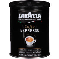 Lavazza Cafe Espresso Medium Roast Ground Coffee, 8 oz, (Pack of 12)