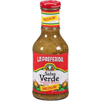 La Preferida Medium Verde Salsa, 16 oz (Pack of 12)