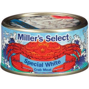 Miller's Select Special White Crab Meat, 6.5 oz, (Pack of 12)