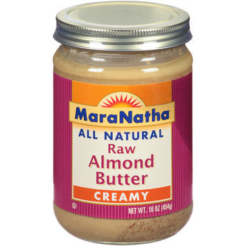 MaraNatha All Natural Creamy Raw Almond Butter, 16 oz, (Pack of 6)