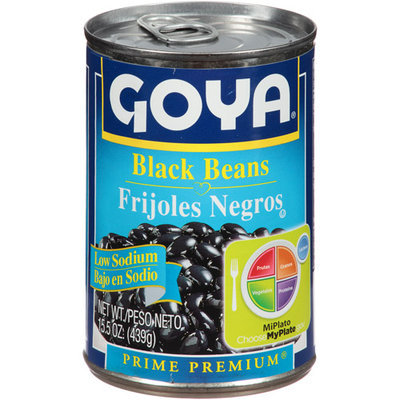 Goya® Black Beans Low Sodium Prime Premium