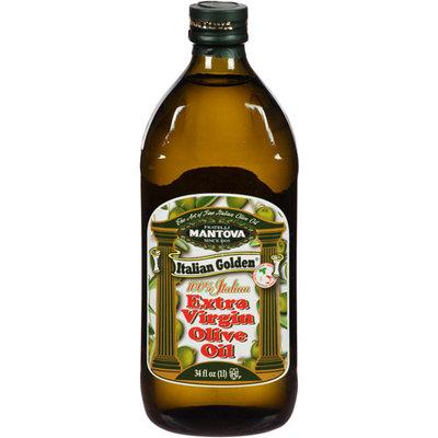 Mantova Italian Golden Extra Virgin Olive Oil, 34 fl oz, (Pack of 6)