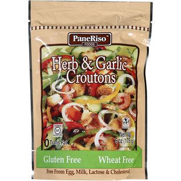 PaneRiso Foods Herb & Garlic Croutons, 6 oz (Pack, 6)