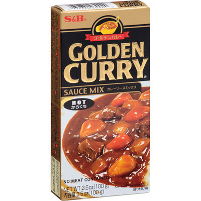 S & B Golden Curry Hot Sauce Mix, 3.5 oz, (Pack of 12)