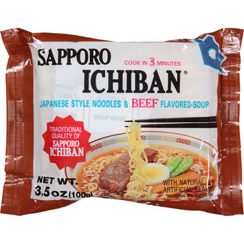 Sapporo Ichiban Beef Flavored Soup & Noodles, 3.5 oz, (Pack of, 24)