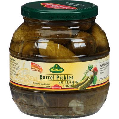 Gundelsheim Kuhne Barrel Pickles, 35.9 fl oz, (Pack of 6)