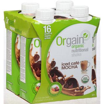 Orgain Iced Cafe Mocha Organic Nutritional Shake, 44 fl oz, (Pack of 3)
