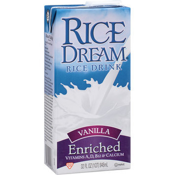 Rice Dream Vanilla Enriched Rice Drink, 32 fl oz, (Pack of 12)