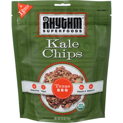 Rhythm Superfoods Texas BBQ Kale Chips, 2 oz, (Pack of 12)