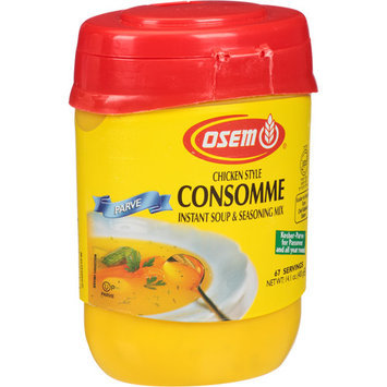 Osem Chicken Style Consomme Instant Soup & Seasoning Mix, 14.1 oz, (Pack of 12)