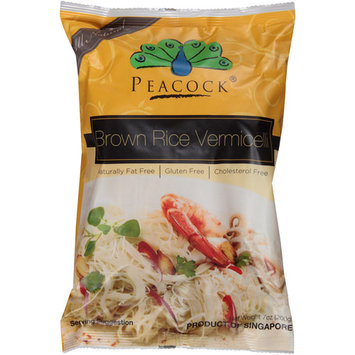 Peacock Brown Rice Vermicelli Pasta, 7 oz, (Pack of 6)