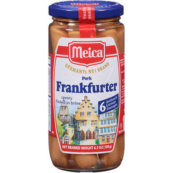 Meica Pork Frankfurters, 6.3 oz, (Pack of 12)