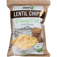 Simply 7 Creamy Dill Lentil Chips, 4 oz, (Pack of 12)