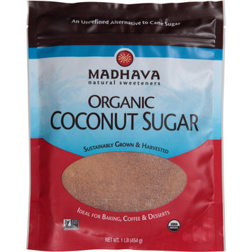 Madhava Honey Madhava Organic Coconut Sugar, 1 lb, (Pack of 6)