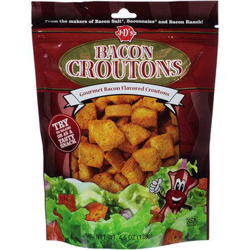 J & D's Bacon Croutons, 4.5 oz, (Pack of 6)