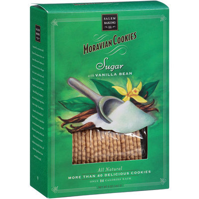 Giovanni Cosmetics Salem Baking Co. Moravian Sugar Cookies with Vanilla Bean, 5 oz, (Pack of 6)