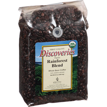 First Colony Coffee First Colony Discoveries Rainforest Blend Whole Bean Coffee, 24 oz, (Pack of 4)
