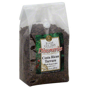 First Colony Coffee First Colony Discoveries Costa Rican Tarrazu Whole Bean Coffee, 24 oz, (Pack of 4)